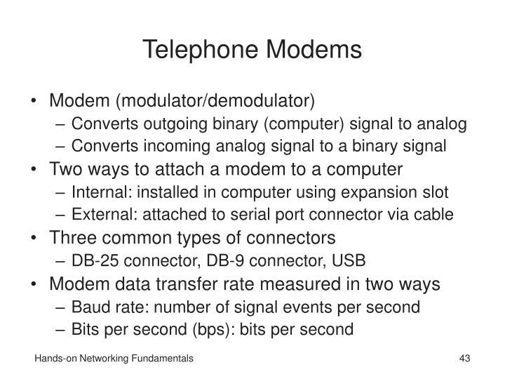 Telephone Modems