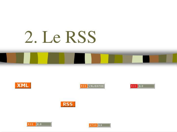 2. Le RSS