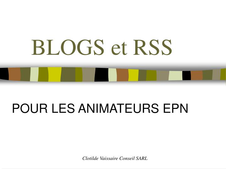 Blogs et rss