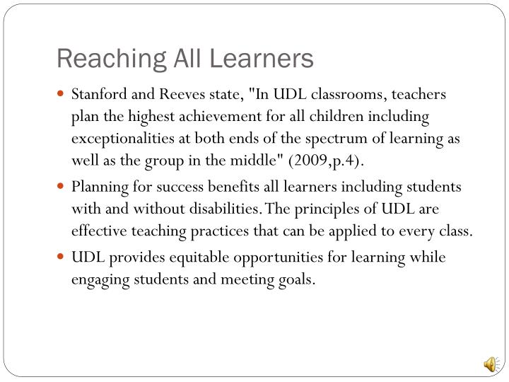Reaching All Learners