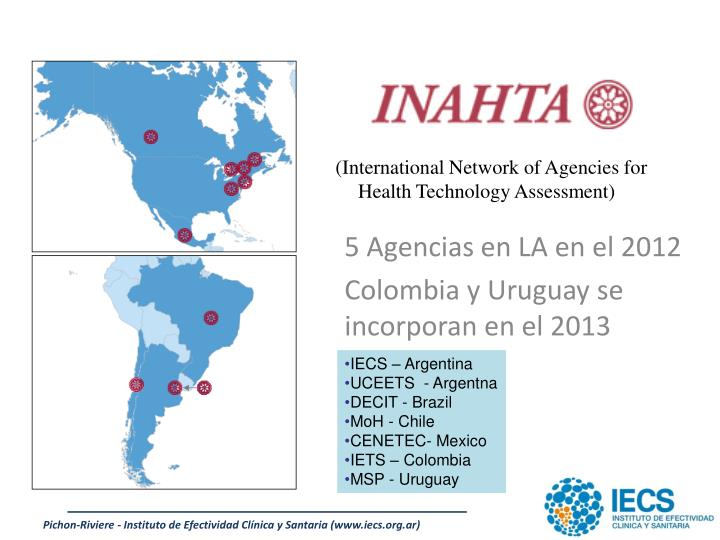 (International Network of Agencies for Health Technology Assessment)