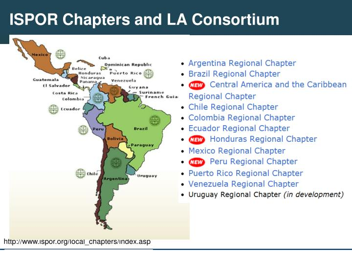 ISPOR Chapters and LA Consortium