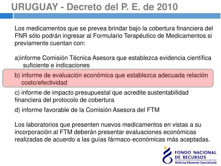 URUGUAY - Decreto