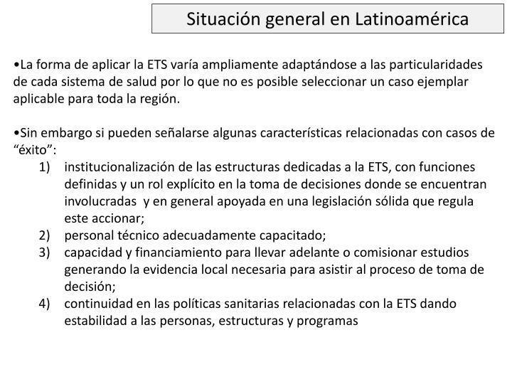 Situación general en Latinoamérica