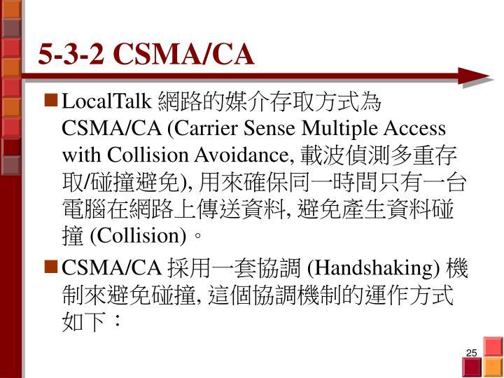 5-3-2 CSMA/CA