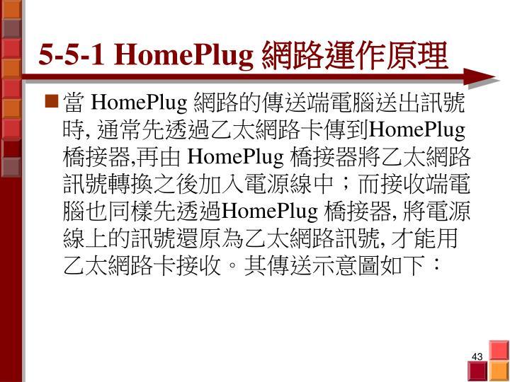 5-5-1 HomePlug