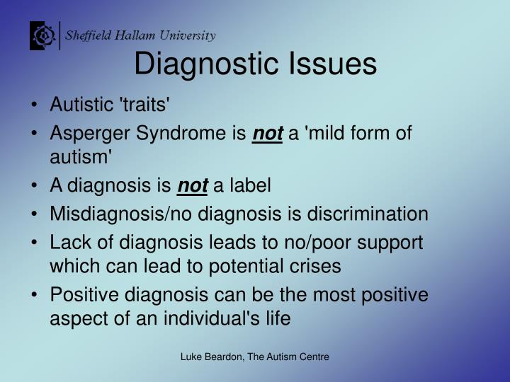 Diagnostic Issues