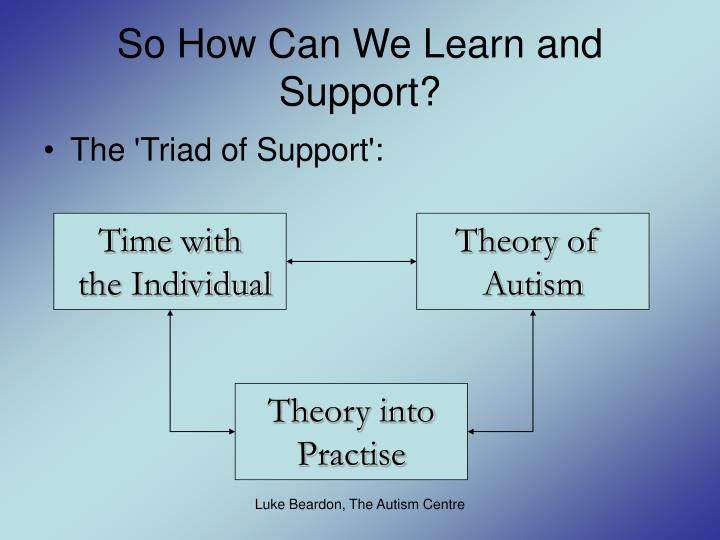 So How Can We Learn and Support?