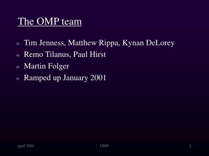 The OMP team
