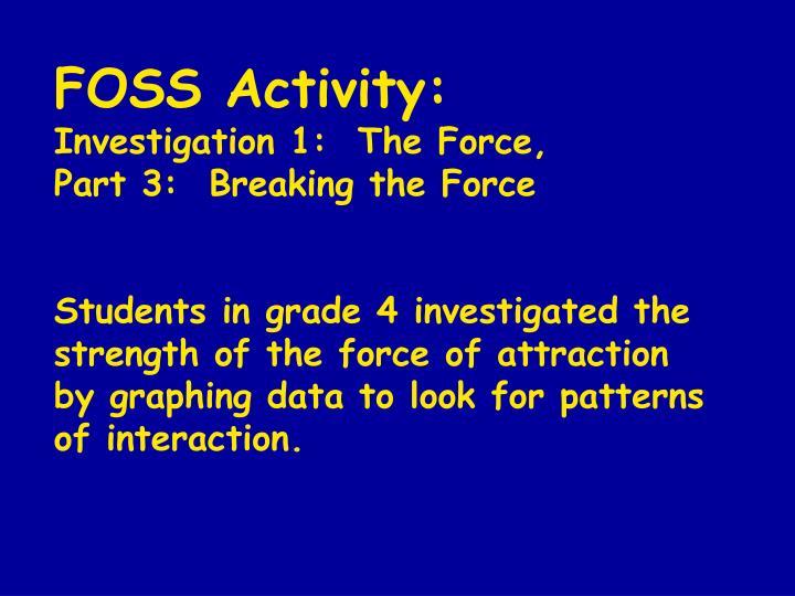 FOSS Activity: