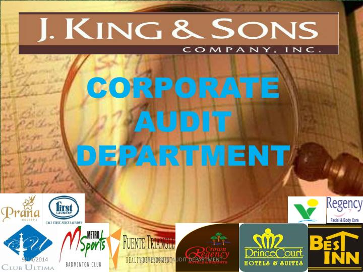 CORPORATE AUDIT DEPARTMENT