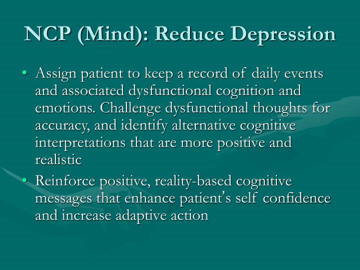 NCP (Mind): Reduce Depression