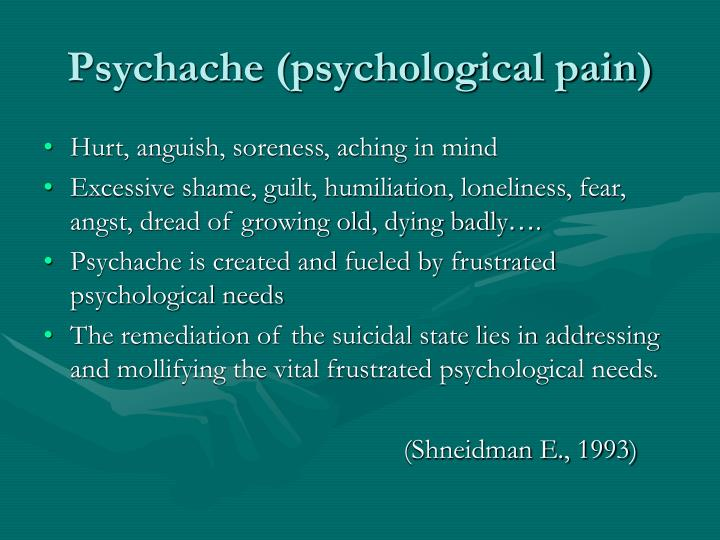 Psychache (psychological pain)