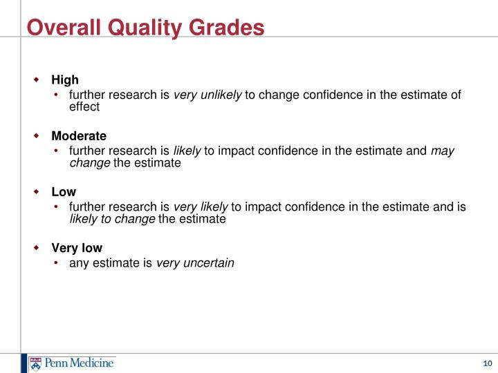 Overall Quality Grades
