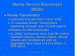 money service businesses msbs