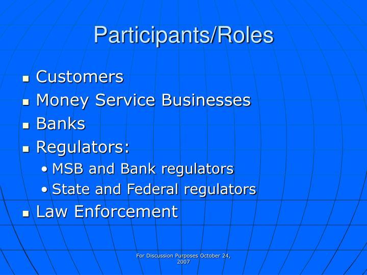 Participants/Roles