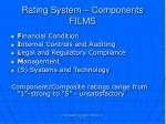 rating system components films