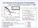 4 influence of the dynamic frenkel defect what is the dynamic frenkel defect md