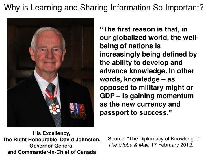 Why is Learning and Sharing Information So Important?