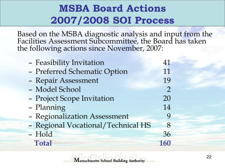 MSBA Board Actions