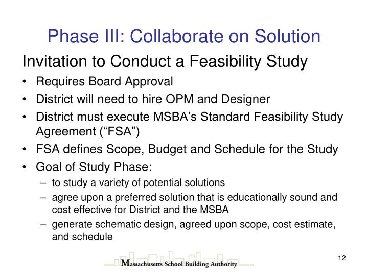 Phase III: Collaborate on Solution