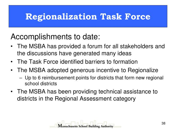 Regionalization Task Force