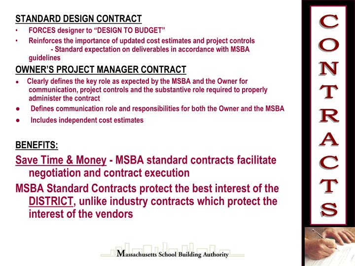 STANDARD DESIGN CONTRACT