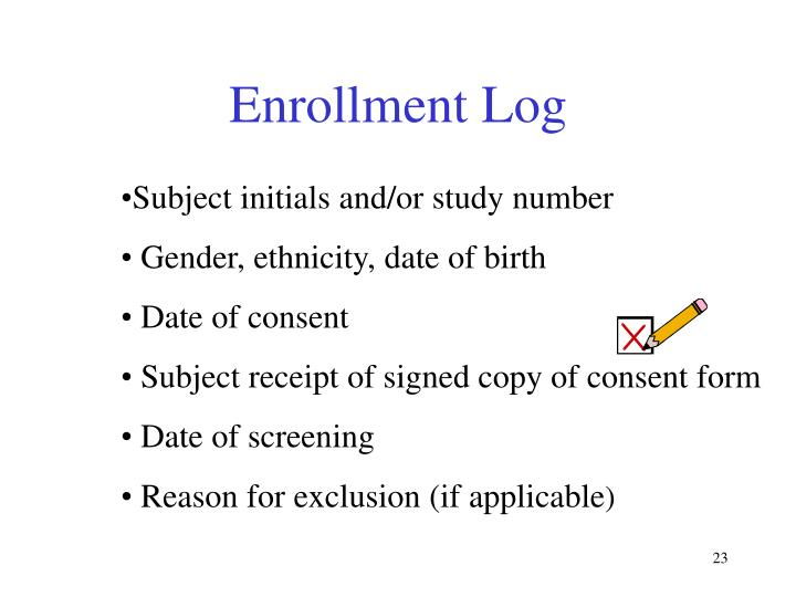 Enrollment Log