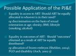 possible application of the pj e
