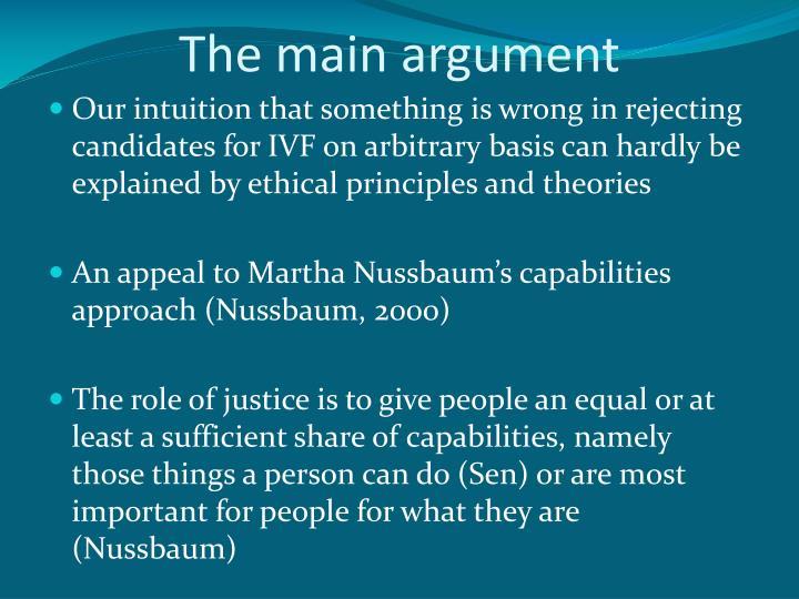 The main argument