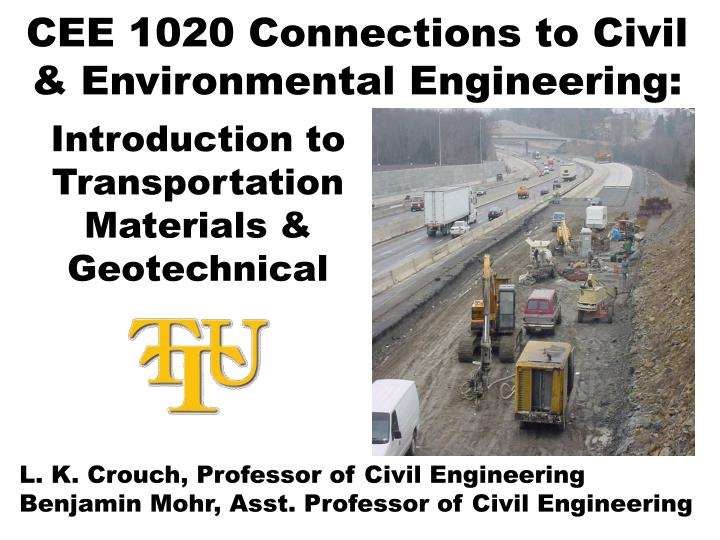 Cee 1020 connections to civil environmental engineering