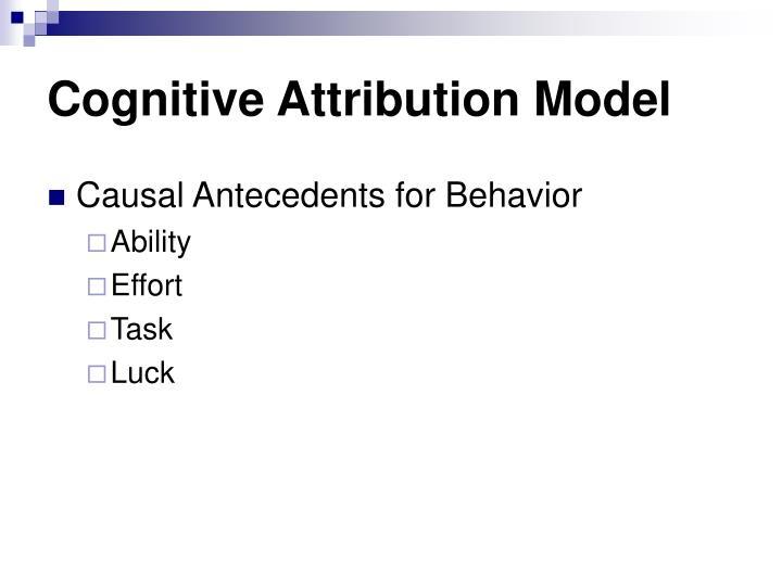 Cognitive Attribution Model