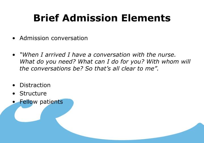 Brief Admission Elements