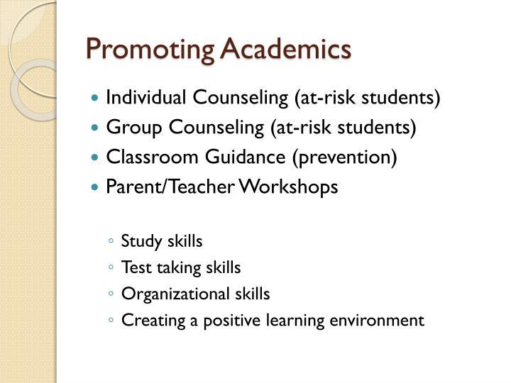 Promoting Academics