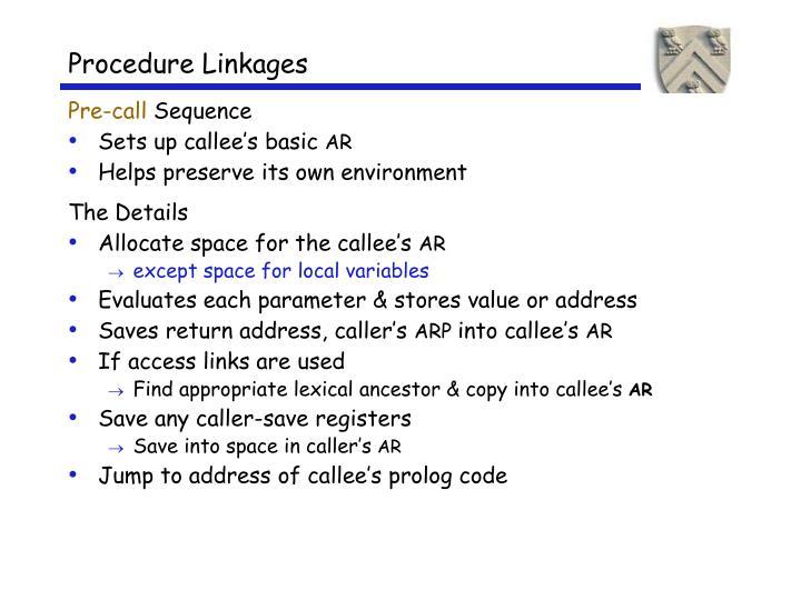 Procedure Linkages