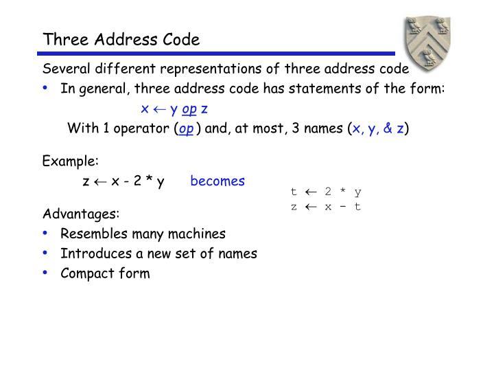Three Address Code