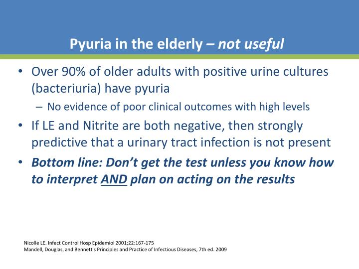 Pyuria in the elderly