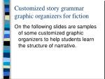 customized story grammar graphic organizers for fiction