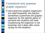 customized story grammar graphic organizers