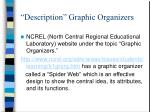 description graphic organizers
