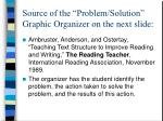 source of the problem solution graphic organizer on the next slide