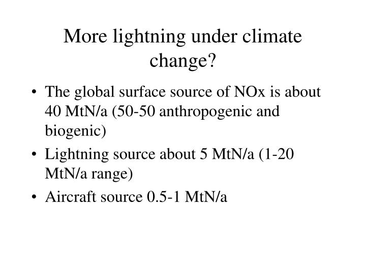 More lightning under climate change?