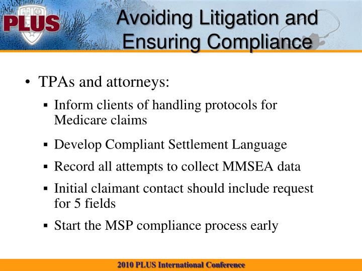 Avoiding Litigation and