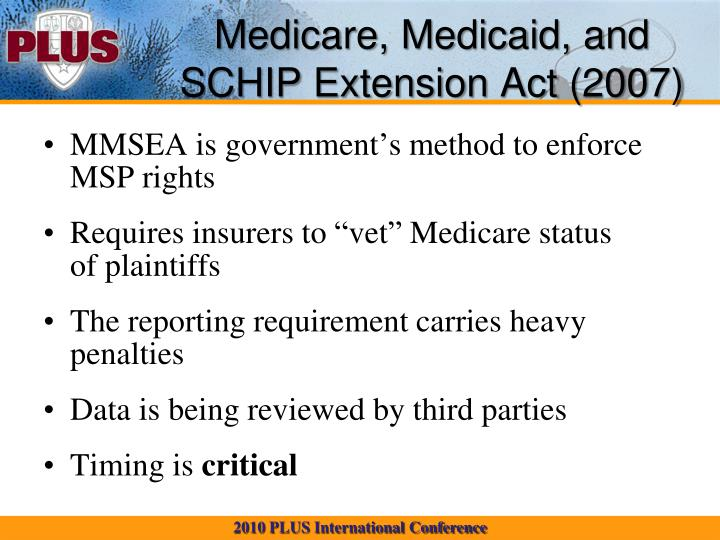 Medicare, Medicaid, and SCHIP Extension Act (2007)