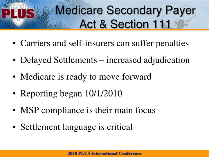 Medicare Secondary Payer Act & Section 111