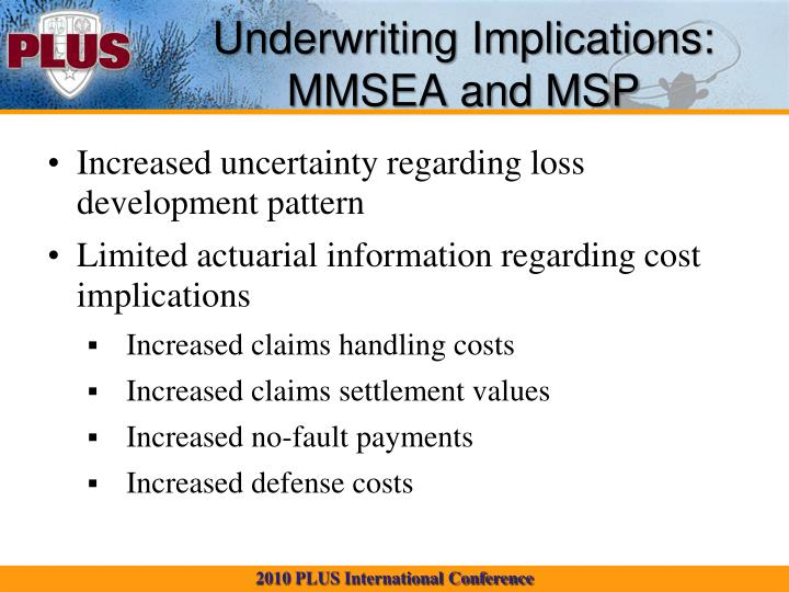 Underwriting Implications: MMSEA and MSP