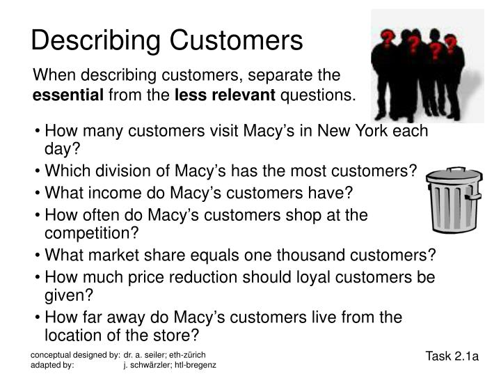 Describing Customers