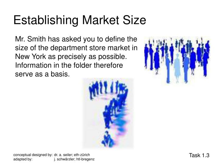 Establishing Market Size