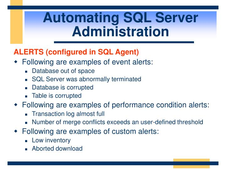 Automating SQL Server Administration