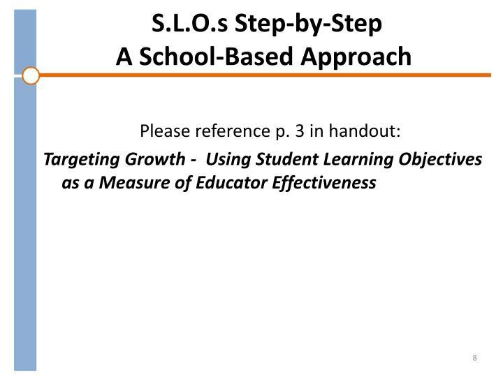 S.L.O.s Step-by-Step